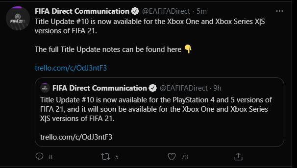 fifa-21-title-update-10-console-tweets
