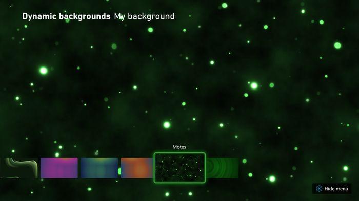 Xbox Dynamic Background Motes