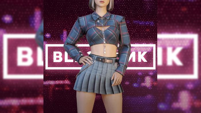 Image of Lisa from BLACKPINK wearing skin for PUBG