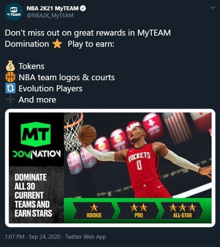 NBA 2K21 MyTEAM Domination
