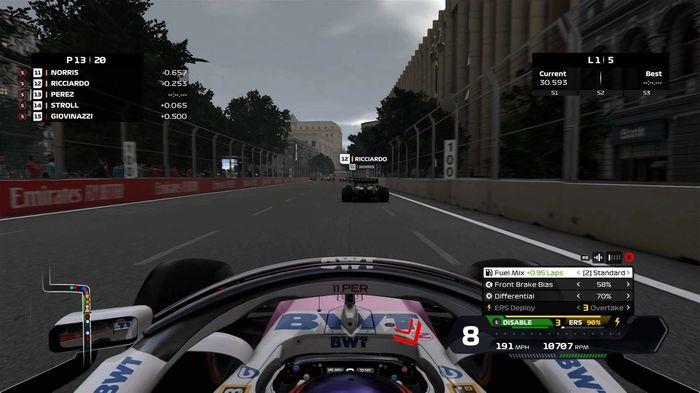 F1 2020 Overtake button