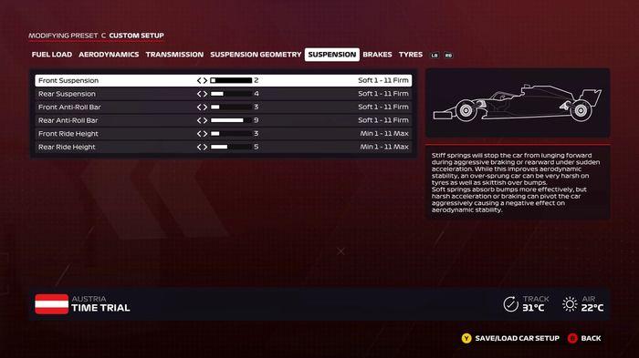 F1 2020 Austria Suspension