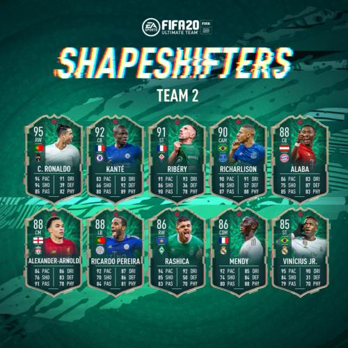 fifa 20 shapeshifters team 2 ronaldo ribery alaba