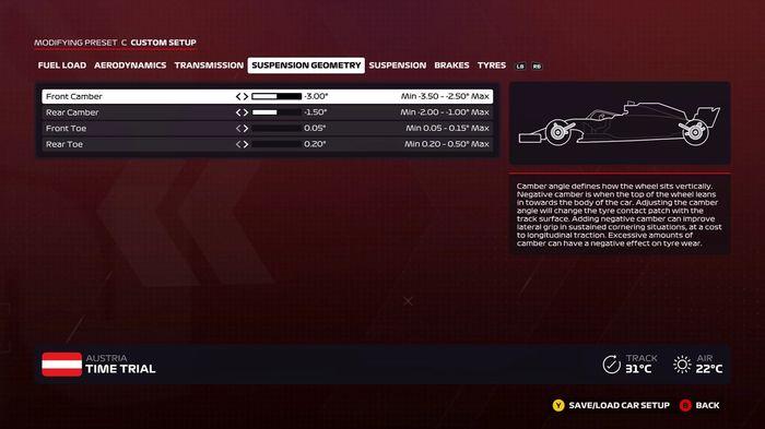 F1 2020 Austria Suspension Geometry
