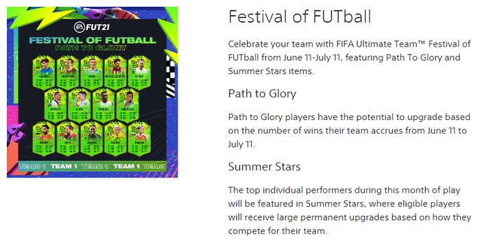fifa 21 festival of futball summer stars