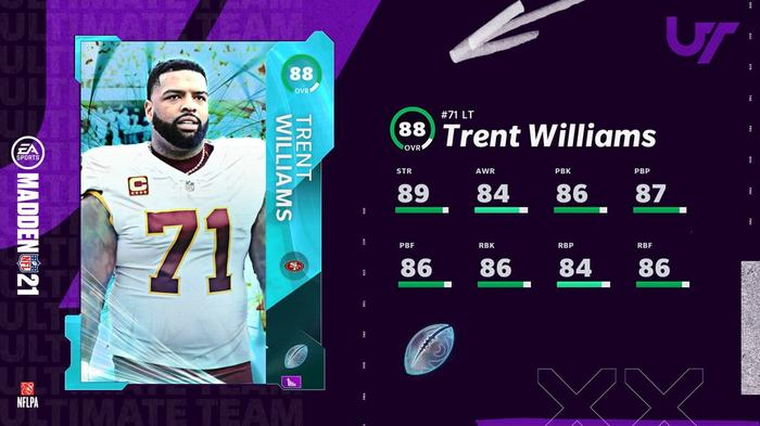 Madden 21 Ultimate Kickoff Heroes Trent Williams 1 1