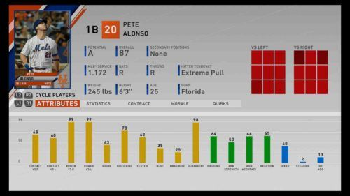 mlb the show 20 power hitters alonso