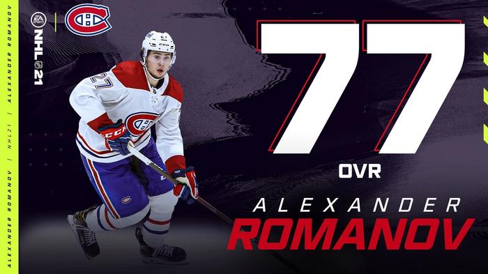 NHL 21 Ratings Roster Update #1 Alexander Romanov OVR