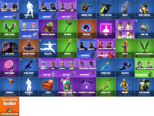 All leaked cosmetics