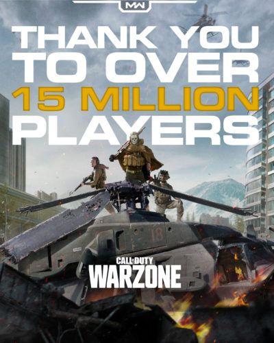 cod warzone 15 million