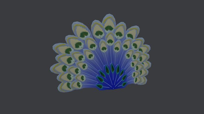 roblox wintery peacock tail