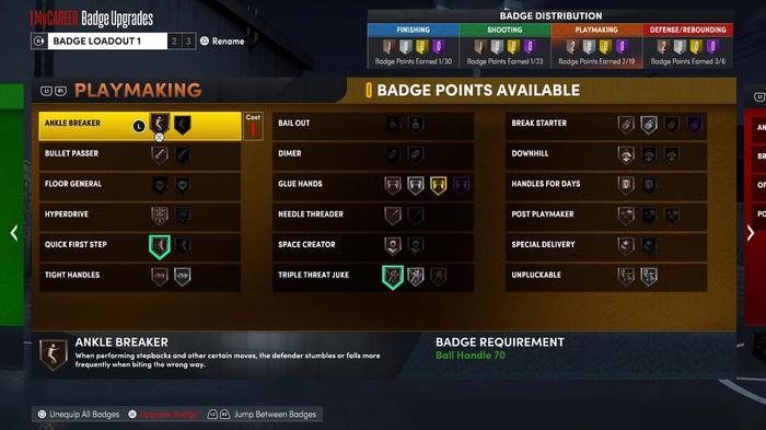 Playmaking Badges in NBA 2K22