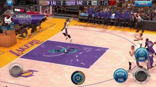 NBA 2K mobile gameplay