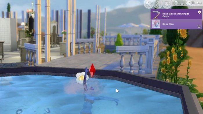 Sims 4 Drowning Sim, kill