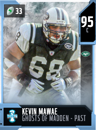 Kevin Mawae's 95 OVR Ghosts of Madden - Past MUT card