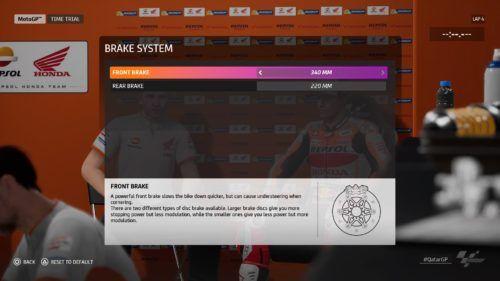 MotoGP™20 brake system setting Qatar