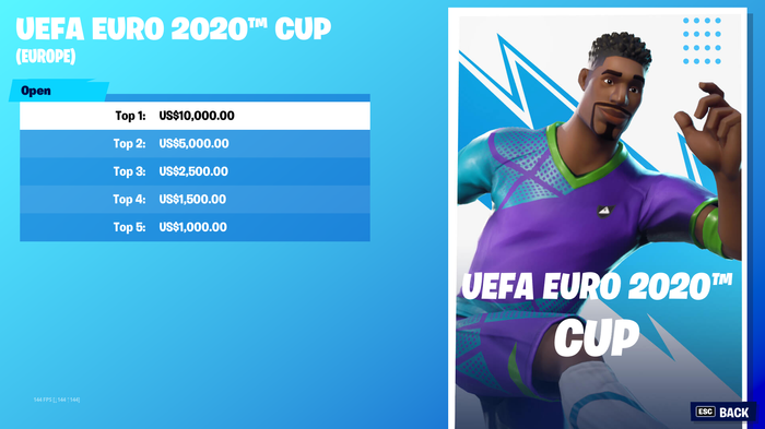 fortnite euro cup day two cash prize