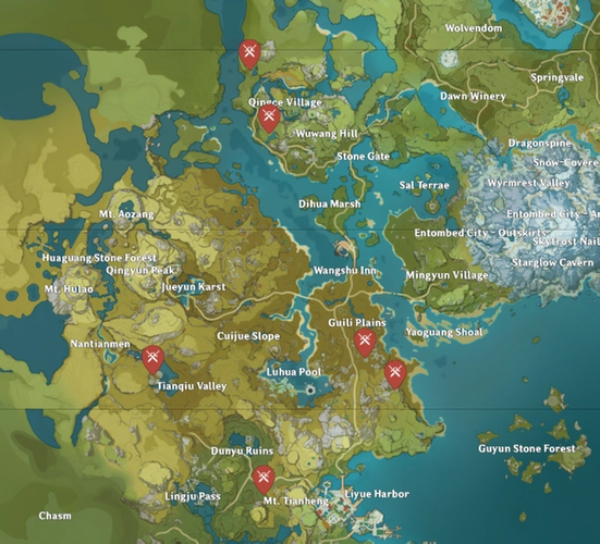 Mapgenie Treasure Hoarder locations