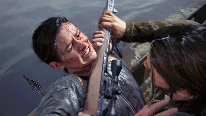 TLOU2 Factions Multiplayer Abbie Fighting Ellie end of game