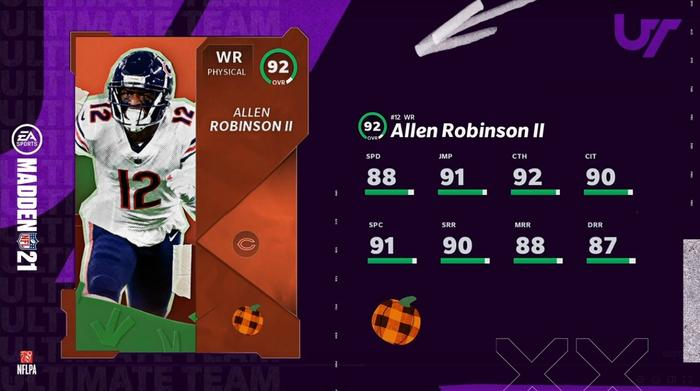 Madden 21 Allen Robinson II Autumn Blast Aces