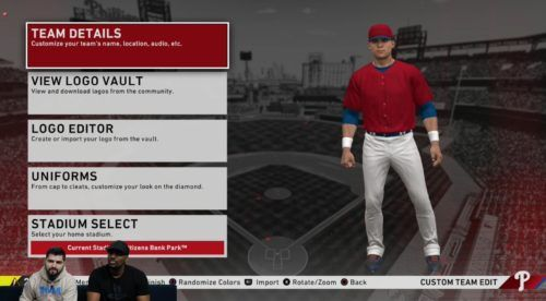 You can rebrand your franchise in MLB The Show 20