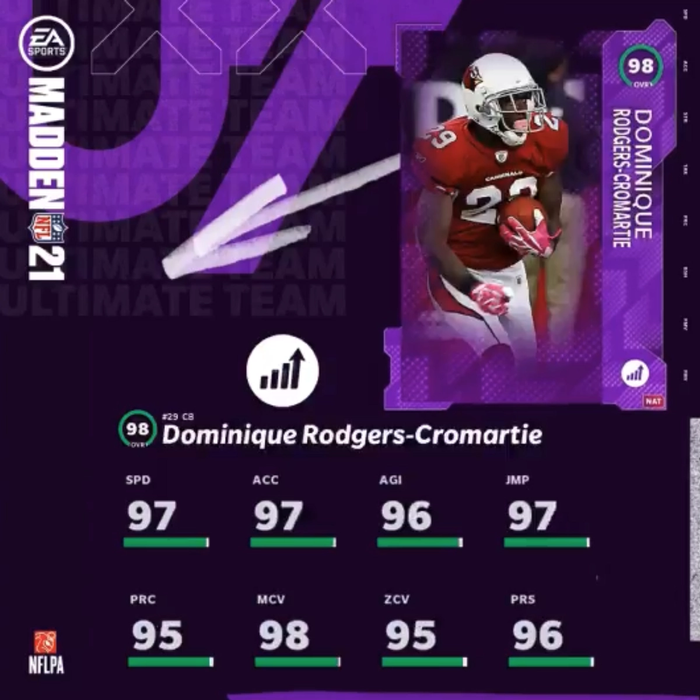 Madden 21 Ultimate Team Power Up Expansion Dominique Rodgers-Cromartie