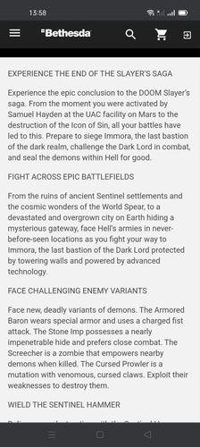 Doom Eternal The Ancient Gods Part 2 Bethesda Listing Leak