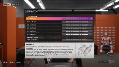 MotoGP™20 Gear Ratio setup Spain
