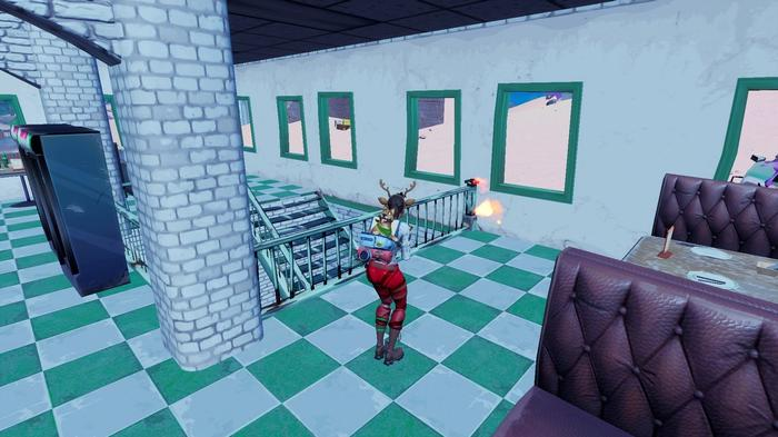 Fortnite Season 5 Week 4 Ignite and dance at a Tomato Shrine near Pizza Pit or Pizza Food Truck
