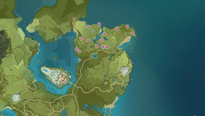 Genshin Impact Valberry Map Locations