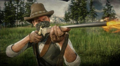 red dead character shooting 1