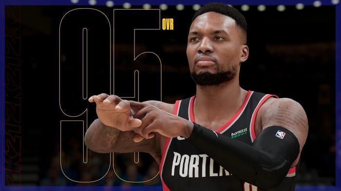 NBA 2K21 next gen ratings Damian Lillard 1