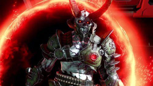 Doom Eternal's Marauder enters via a portal