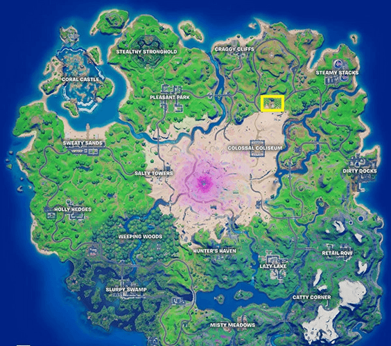 Fortnite Map The Orchard Location
