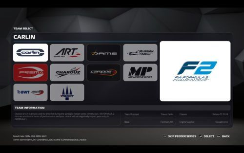 The whole 2018 and 2019 F2 grid - including both teams and drivers - is available in F1 2019.