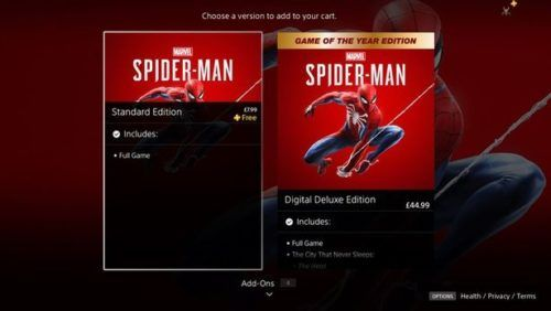 spiderman ps store ps plus