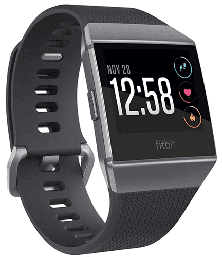 Best Fitbit Ionic product image of a charcoal grey smartwatch