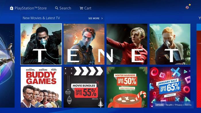 PlayStation Movie Rental Changes Tenet Ad