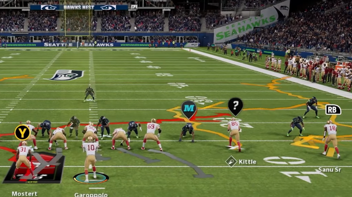 Madden 22 home field advantages advantage dynamic gameday seattle seahawks squiggly play art