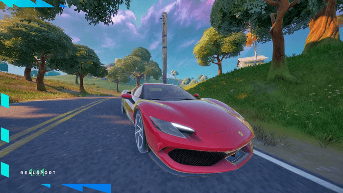How To Find The Ferrari 296 GTB with the fortnito, Location: Paris Speed