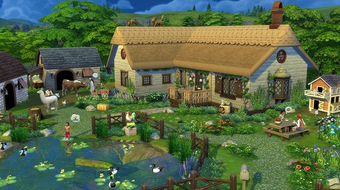 sims 4, cottage living