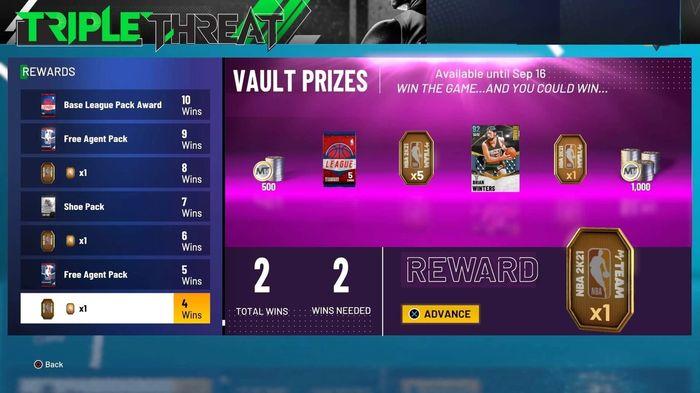 nba 2k21 triple threat prizes