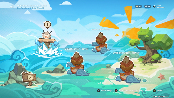 Genshin Impact Midsummer Island Adventure map