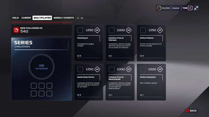 F1 2020 Series Challenges