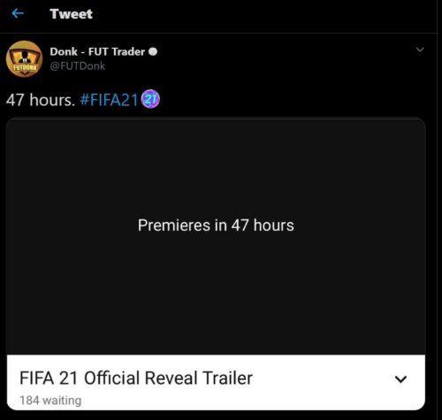fifa 21 reveal trailer date