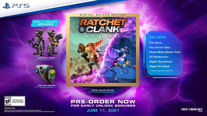 Rift Apart Release Date Ratchet and Clank Digital Deluxe Bonuses