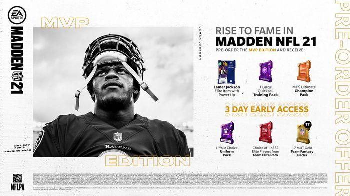 Madden 22 Editions MVP Edition Standard Deluxe Price Pre Order Bonuses Rewards