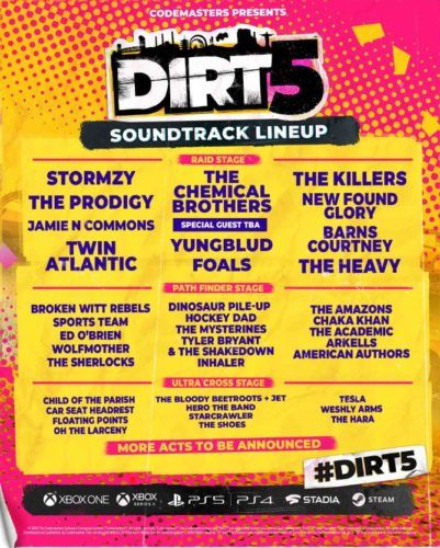 dirt 5 soundtrack poster 1