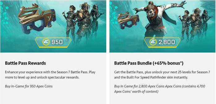 apex legends battle pass bundles