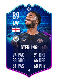 sterling ucl totgs 89 fifa 21